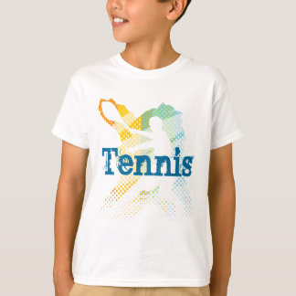Kids Tennis Tee Shirt with customizable print