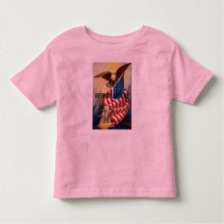 Kids /Toddler T-Shirt w/ Eagle Defending / Defe