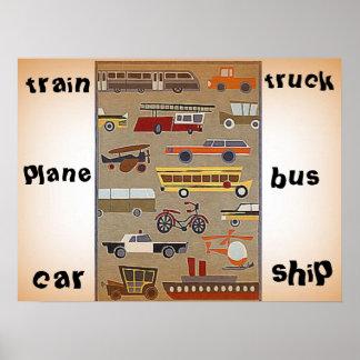 Kid's travel poster