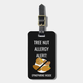 Kids Tree Nut Allergy Alert with Epinephrine Image Luggage Tag