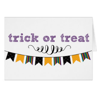 Kids Trick or Treat Cute Halloween Greeting Card