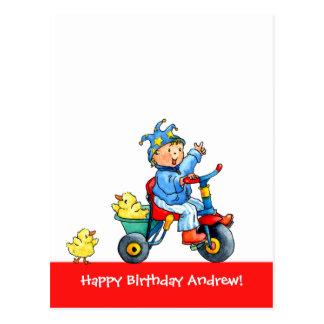 Kid's Trike  Birthday Postcard
