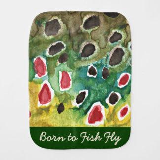 Kid's Trout Fishing Burp Cloth