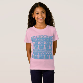 Kids tshirt blue art Folk