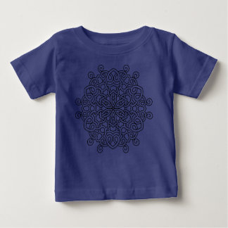 Kids tshirt blue with Mandala