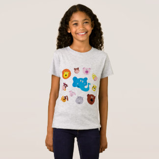 Kids tshirt grey with Animals