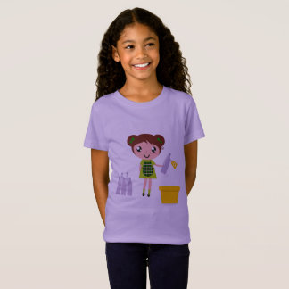 Kids tshirt with Character recycle / Lavender