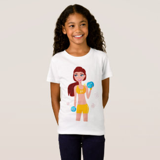 Kids tshirt with wellness fit girl
