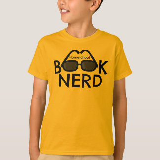 Kids' Unisex Homeschool Book Nerd Tee
