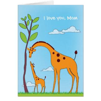 Kids Valentine Giraffe Love Card