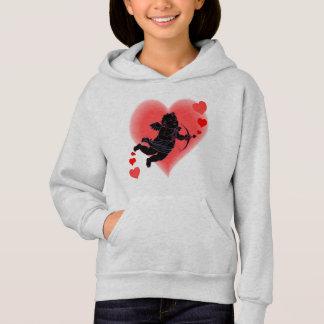 Kid's Valentine Hoodies Pink Cupid Sweatshirt