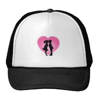 Kids Valentines Day Kiss Mesh Hat
