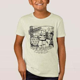 Kid's Vancouver Souvenir T-shirt Organic Tee Shirt