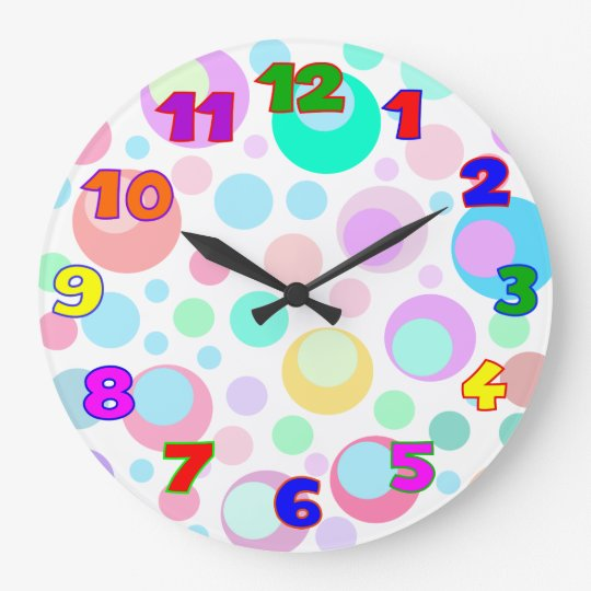 Kids wall clock kids room wall clocks zazzle for Kids room clock