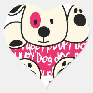 kids wear, baby dog heart sticker