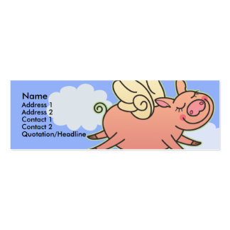 Kids When Pigs Fly Skinny Profile Cards Pack Of Skinny Business Cards