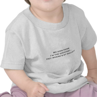 """""""Kids... Where's my wallet?"""" designs on funny T-shirts"""