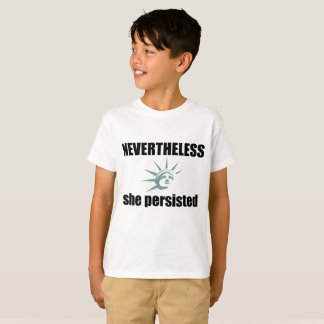 Kids White Tee - Nevertheless She Persisted