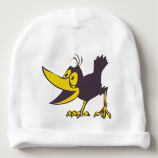 Kids Winter Hat - Funny Cartoon Crow Baby Beanie