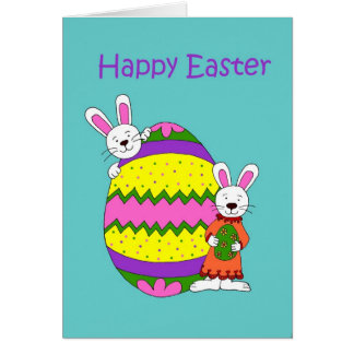 Kids with Easter egg Card