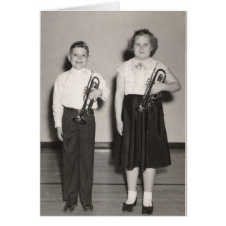 Kids with Trumpets Card