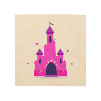 Kids wood wall art : with Princess castle