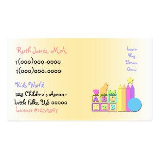 Kids World Daycare Business Card