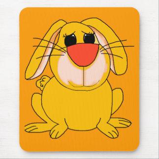Kids Yellow Bunny Mouse Pad
