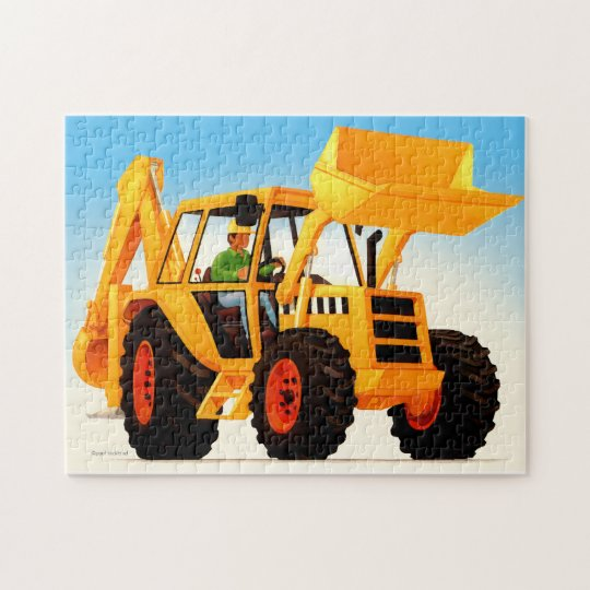 Kid's Yellow Digger Jigsaw Puzzle