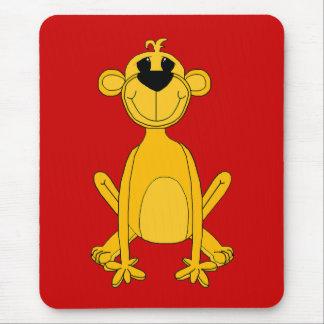 Kid's Yellow Monkey Mouse Pad