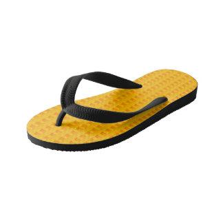 Kids yellow printed designer Flip Flops Thongs