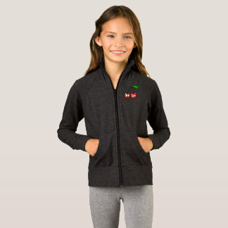 Kids Zip Up Long Sleeves Cherry Talk Secrets Gift Jacket