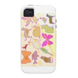 KIDS ZOO : Animal Cartoon Collections Case-Mate iPhone 4 Cases