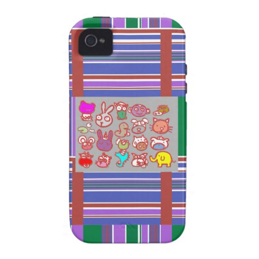 KIDS ZOO : Animal Cartoon Collections iPhone 4/4S Cover