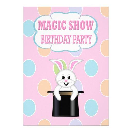 KidsMagic Show Birthday Party Invitations