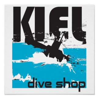 Kiel Dive Shop Canvas Poster
