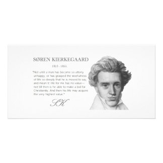 Kierkegaard—Life's Highest Value Personalized Photo Card