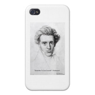 "Kierkegaard ""Love Yourself"" Love Quote Gifts Etc iPhone 4/4S Case"
