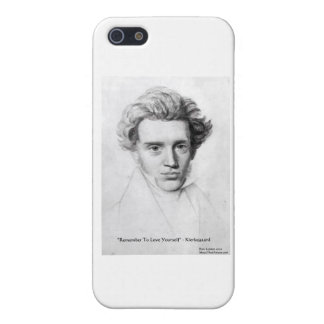 "Kierkegaard ""Love Yourself"" Love Quote Gifts Etc iPhone 5/5S Cover"