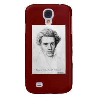"Kierkegaard ""Love Yourself"" Love Quote Gifts Etc Samsung Galaxy S4 Cover"