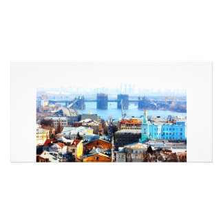 Kiev bussines and industrIal city Personalized Photo Card