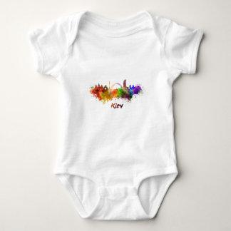 Kiev skyline in watercolor baby bodysuit