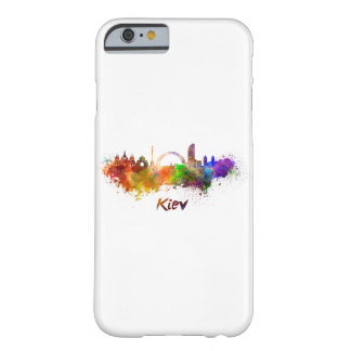 Kiev skyline in watercolor barely there iPhone 6 case