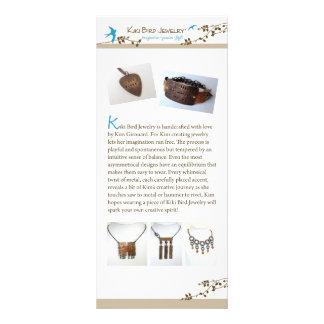 Kiki Bird Jewelry Full Color Rack Card