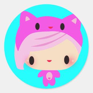 Kiki-Chan Round Sticker