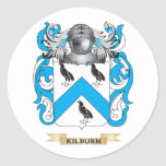 Kilburn Coat of Arms (Family Crest) Round Stickers