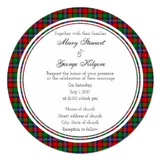 Kilgore Scottish Wedding Round Invitation