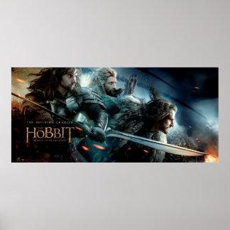 Kili, Fili, & THORIN OAKENSHIELD™ Charge To Battle Poster