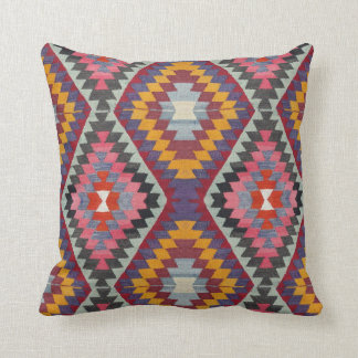 Kilim Style Throw Pillow
