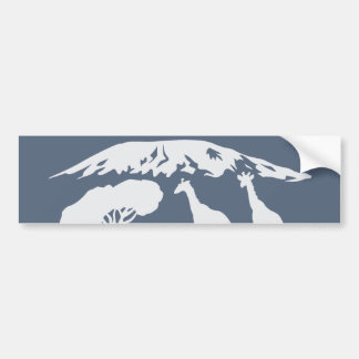 Kilimanjaro (Blue) Bumper Sticker